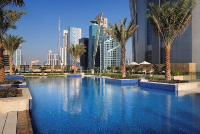 Der Pool vom JW Marriott Marquis Dubai